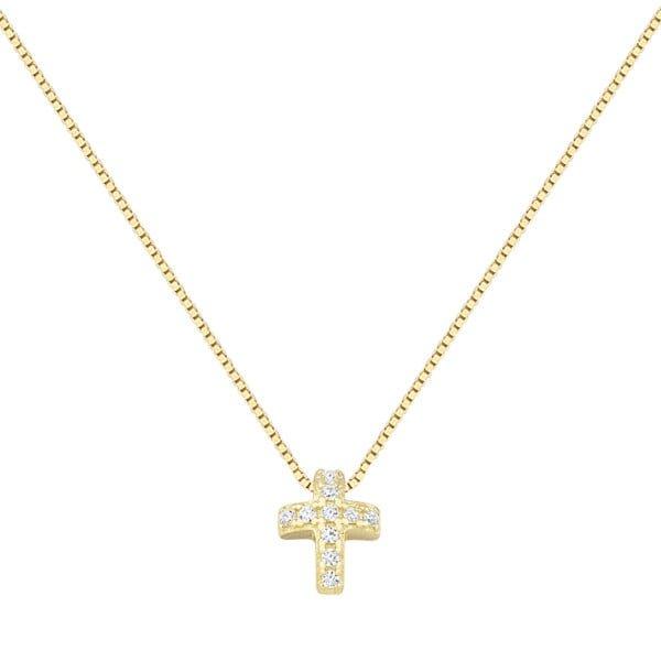 Χρυσο κολιε με σταυρο Κ14