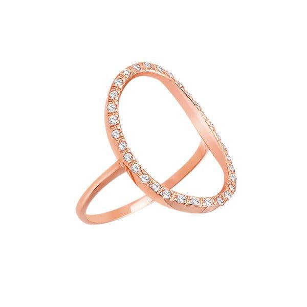 Χρυσο δαχτυλιδι Κ14 με λευκες πετρες