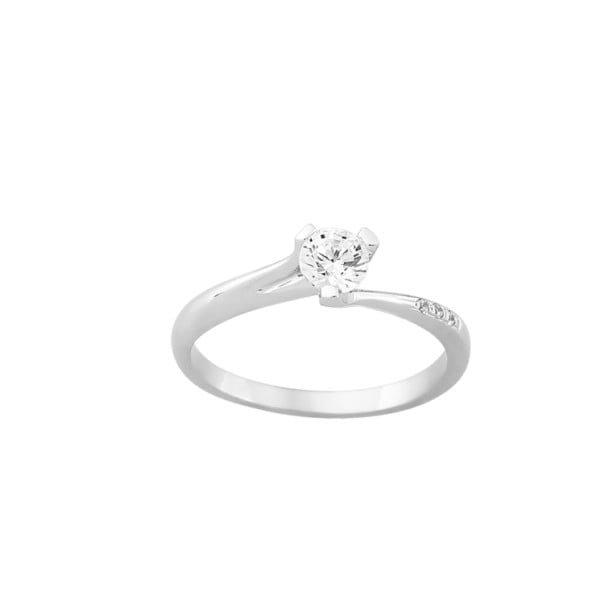 Χρυσο μονοπετρο δαχτυλιδι με ζιργκον Κ14