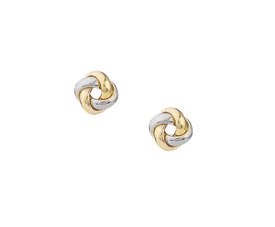 Χρυσα διχρωμα σκουλαρικια Κ14
