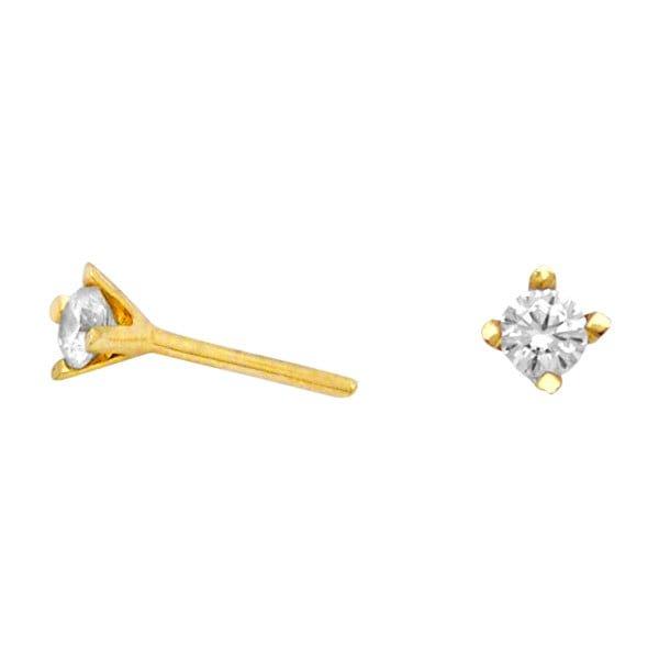 Χρυσα σκουλαρικια Κ14 με πετρα