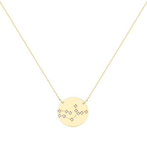 Χρυσο κολιε με αστερισμο παρθενος Κ9