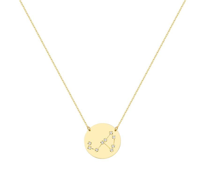 Χρυσο κολιε με αστερισμο σκορπιος Κ9