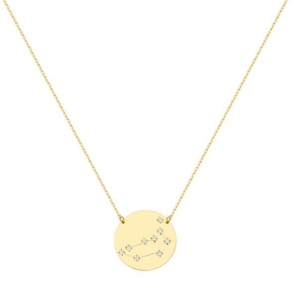 Χρυσο κολιε με αστερισμο αιγοκερως Κ9