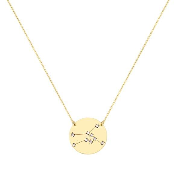 Χρυσο κολιε με αστερισμο ταυρος Κ9