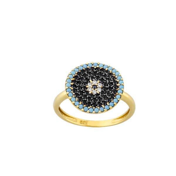 Χρυσο δαχτυλιδι με πετρες Κ14