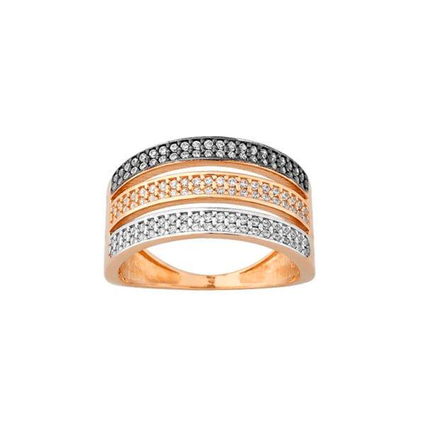 Χρυσο δαχτυλιδι με τρια χρωματα K14